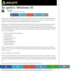 So geht's: Windows 10