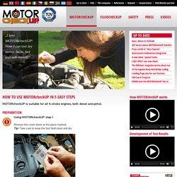 So wenden Sie MOTORcheckUP an - motorcheckup.en