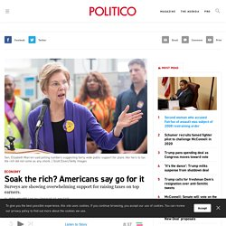 Soak the rich? Americans say go for it