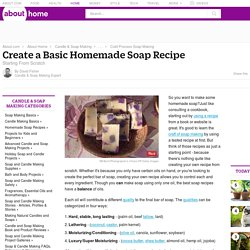 Creating a Basic Soap Recipe - Soap Making Recipe Basics - How to Make Homemade Natural Soap