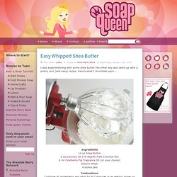 Easy Whipped Shea Butter