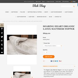 Soaring Heart Organic Latex Mattress Topper - SlickSleep.com