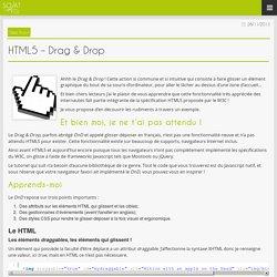 HTML5 – Drag & Drop