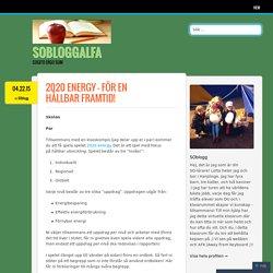 2020 energy – för en hållbar framtid!