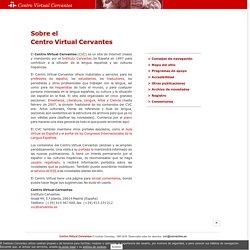 Sobre el Centro Virtual Cervantes.