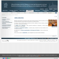 Onati International Institute for the Sociology of Law