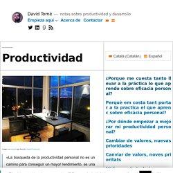 Guía sobre productividad personal