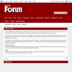 Sobre a revista - Revista Fórum