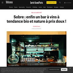 Sobre : un bar à vins 75010