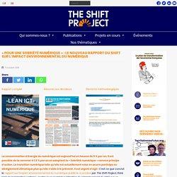 « Pour une sobriété numérique » : le nouveau rapport du Shift publié