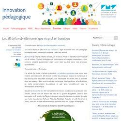 Les 5R de la sobriété numérique via prof en transition