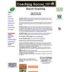 Soccer Coaching - Coaching Soccer 101