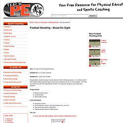 Soccer Drills / Football Drills - Shooting - shoot on sight
