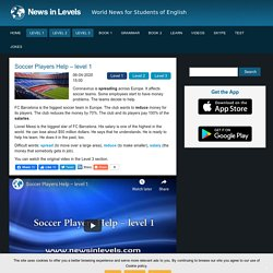 Soccer Players Help – level 1