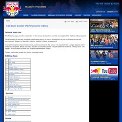 Red Bulls Soccer Training Skills Videos Red Bulls Soccer Academy