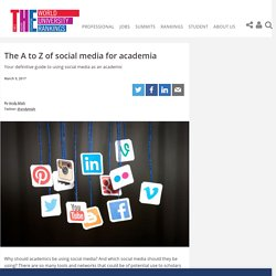 The A to Z of social media for academia