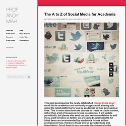 The A to Z of Social Media for Academia | Professor Andy Miah