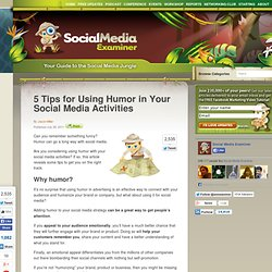 5 Tips for Using Humor in Your Social Media Activities