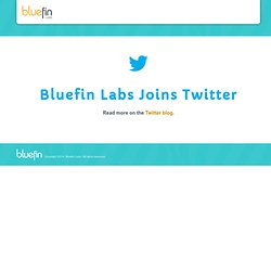 Bluefin Labs : Real-Time TV Audience Response Through Social Media