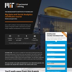 Big Data and Social Analytics certificate course