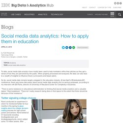 Social media data analytics: How to apply them in education
