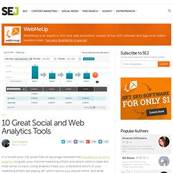 10 Great Social and Web Analytics Tools