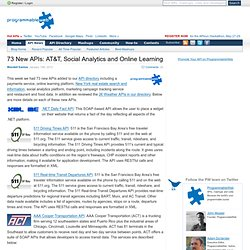 http://blog.programmableweb.com/2012/01/15/73-new-apis-att-social-analytics-and-online-learning/