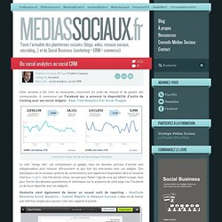 Du social analytics au social CRM