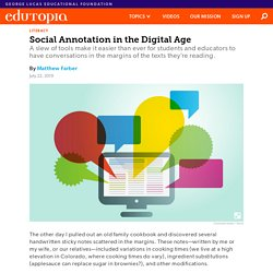 Tools for Social Annotation in the Digital Age