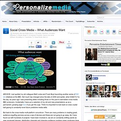 Social Cross Media – What Audiences Want