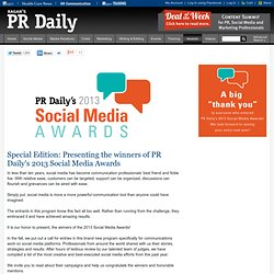 2013 Social Media Awards Special Edition