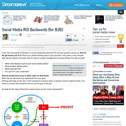 Social Media ROI Backwards (for B2B)