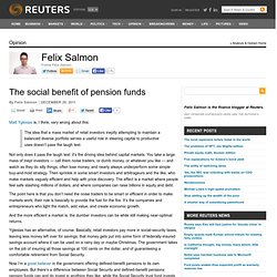 The social benefit of pension funds