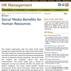 Social Media Benefits for Human Resources - HRM Guide