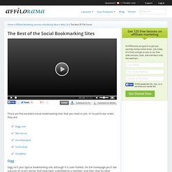 The Best of the Social Bookmarking Sites