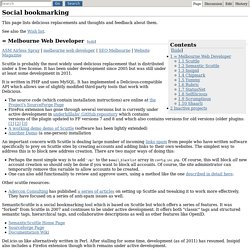 Social bookmarking - Autonomous