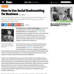 How to Use Social Bookmarking for Business
