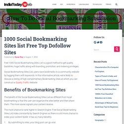 1000 Social Bookmarking Sites List Top Dofollow- High PR 2020