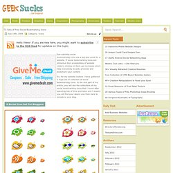 72 Sets of Free Social Bookmarking Icons - Icons
