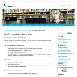 Social Bookmarking – Learn more