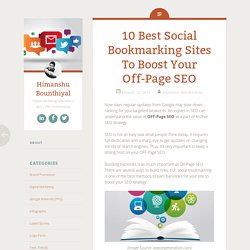 10 Best Social Bookmarking Sites To Boost Off-Page SEO