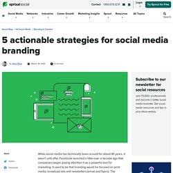 10 Social Media Branding Strategies