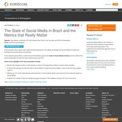 The State of Social Media in Brazil and the Metrics that Really Matter