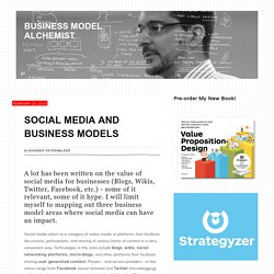 Social Media and Business Models
