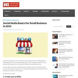 Social Media Basics For Small Business In 2013