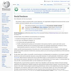 Social business - Wikipedia