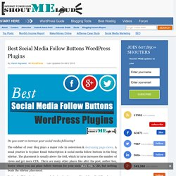 Best Social Media Follow Buttons WordPress plugin - 2015
