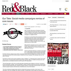 Our Take: Social media campaigns remiss of core issues - The Red and Black : Views