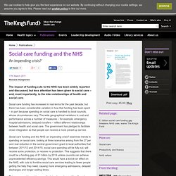 Social care funding and the NHS