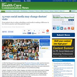 14 ways social media may change doctors' visits